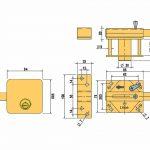 imagen de las especificaciones tecnicas del cerrojo 7930R de Lince anti bumping
